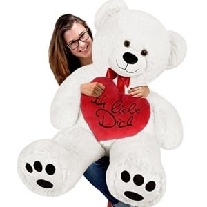 riesen teddy mit herz