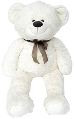 Wagner 9021 - XXL Plüschbär Teddy Bär - 100 cm groß - weiß - Teddybär - 1