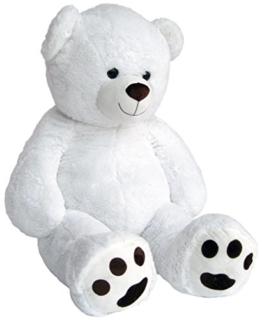 Wagner 9042 - Riesen XXL Teddybär 170 cm gross in weiss - Plüschbär Kuschelbär Teddy Bär 1,70 m - 1