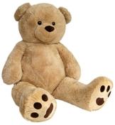Wagner 9050 - Riesen XXL Teddybär 170 cm groß in hell-braun - Plüschbär Kuschelbär Teddy Bär in beige 1,70 m - 1