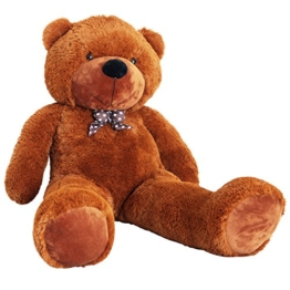 Yorbay Riesen XXL Teddybär 2m Braun Kuschelbär Kuscheltier Stofftier Bär Teddy Plüschbär zum liebhaben - 1