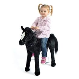 Pink Papaya Plüschpferd XXL 75 cm - Stehpferd Polly - fast lebensgroßes Spielpferd zum drauf sitzen bis 100 kg belastbar, mit verschiedenen Sounds, Spielzeug Pferd zum Träumen Toys - 1